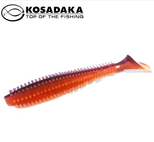 Купить Виброхвост Kosadaka Spikey Shad 120, 4шт., цвет VF SSH-120-VF