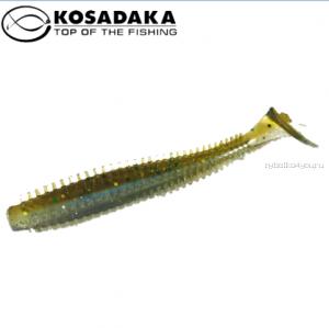Виброхвост Kosadaka Spikey Shad 90, 9шт., цвет BBR SSH-090-BBR
