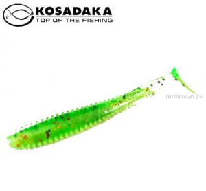 Виброхвост Kosadaka Spikey Shad 90, 9шт., цвет FTS SSH-090-FTS