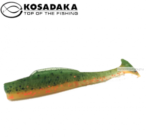 Виброхвост Kosadaka Weedless Minnow 65, 6шт., цвет BOT WM-065-BOT