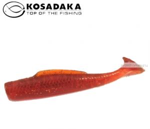 Виброхвост Kosadaka Weedless Minnow 88, 6шт., цвет MOS WM-088-MOS