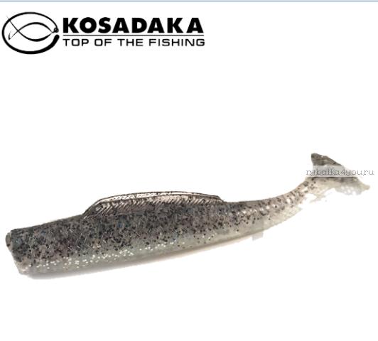 Купить Виброхвост Kosadaka Weedless Minnow 88, 6шт., цвет SR WM-088-SR