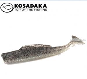 Виброхвост Kosadaka Weedless Minnow 88, 6шт., цвет SR WM-088-SR