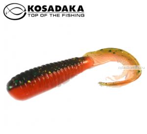 Твистер Kosadaka с разрезным хвостом Triple Tail 90, 8шт., цвет DM TTL-090-DM