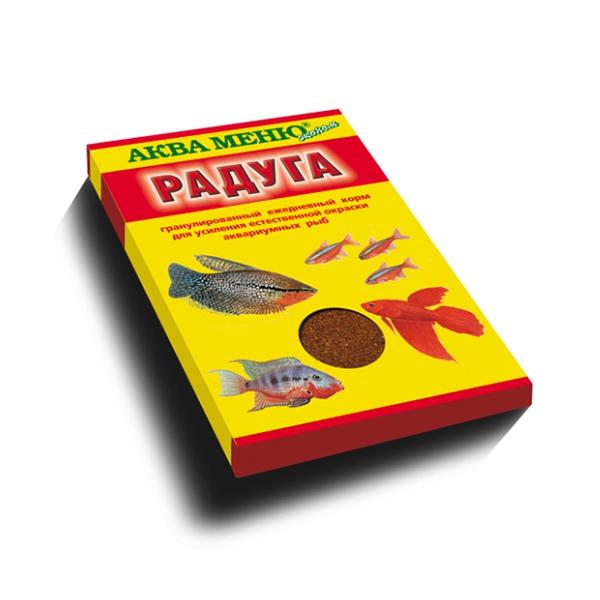 Корм Аква Меню Радуга 25гр для большинства видов аквариумных рыб