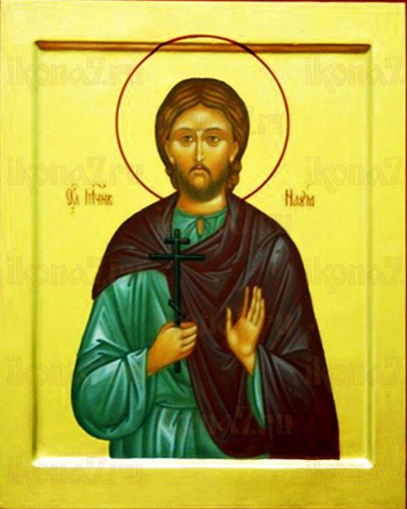 Наум Агломазовский (рукописная икона)