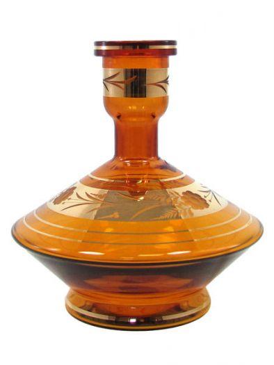 Колба для кальяна средняя богемия янтарная