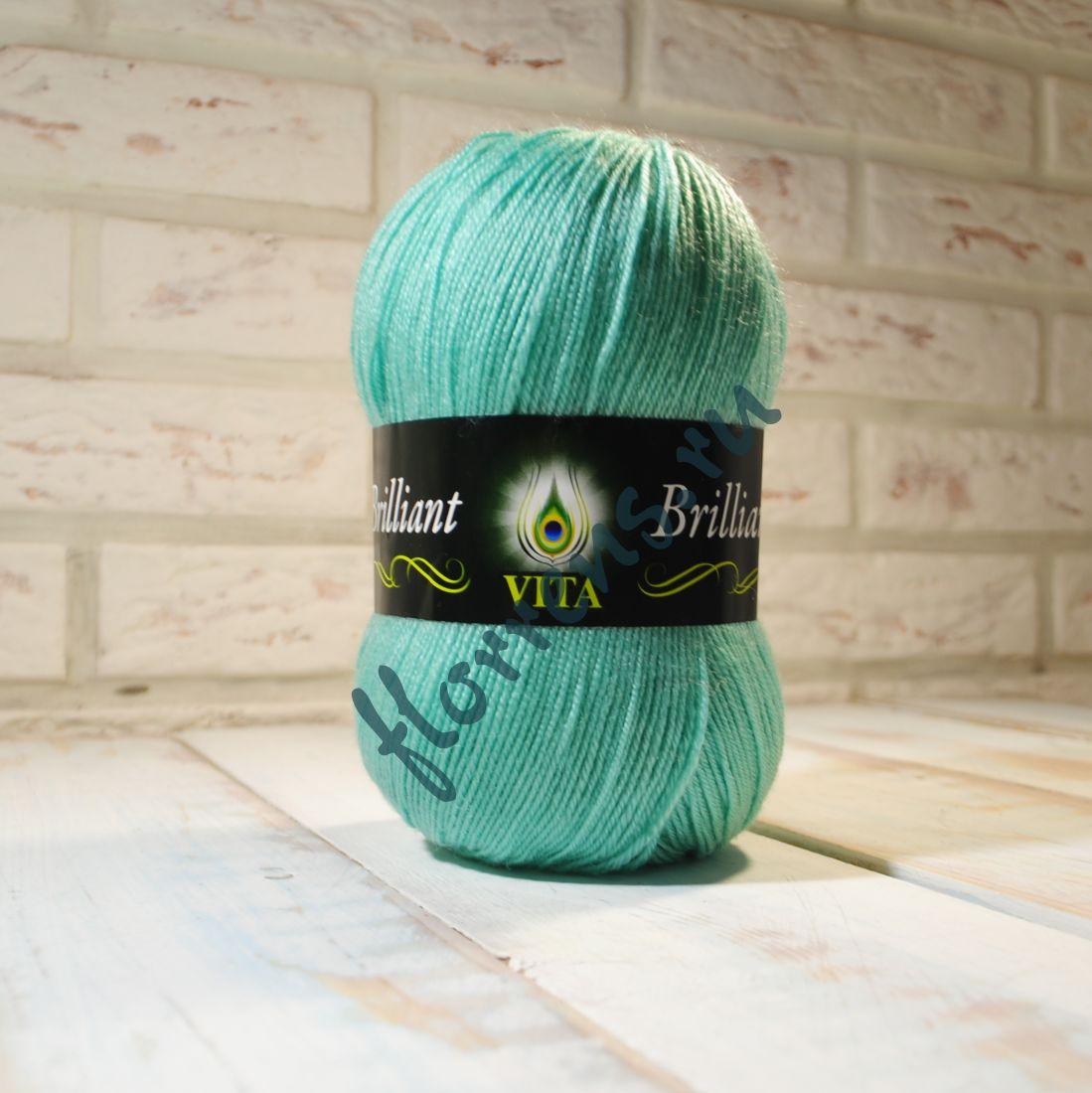Пряжа Brilliant / 4992 св. зеленая бирюза