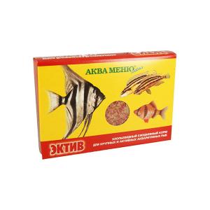 Корм Аква Меню Эктив 11гр для разнообразных видов цихлид из Центральной и Южной Америки, Африки, активных рыб из Юго-Восточной Азии и различных видов сомов