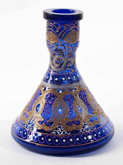 Колба для кальяна Ager средняя расписная синяя