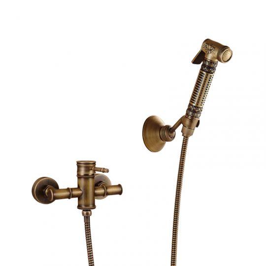 Смеситель с кнопочной лейкой Antique Brass 1134