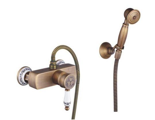 Смеситель с лейкой Antique Brass 1137