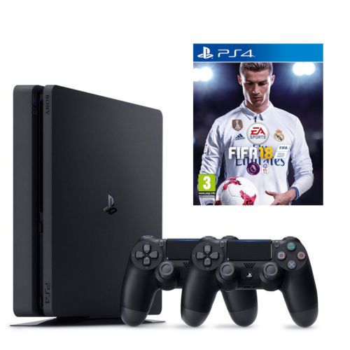 Игровая приставка Sony Playstation 4 Slim 500Gb + Dualshock 4 + Fifa 18.