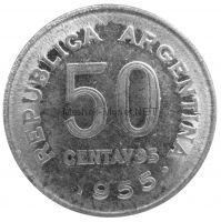 Аргентина 50 сентаво 1955 г.
