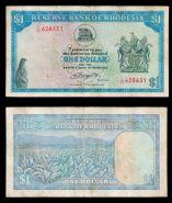 РЕДКАЯ и ДОРОГАЯ БАНКНОТА. Родезия 1 доллар 1978. ХОРОШАЯ ИНВЕСТИЦИЯ