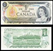 Канада 1 доллар 1973. UNC-AUNC. ОТЛИЧНАЯ