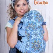 Эргорюкзак СТАНДАРТ Ажур синий - хлопок Голубика