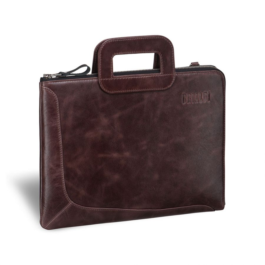 Деловая сумка Brialdi Fontana (Фонтана) antique brown