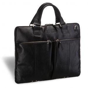 Деловая сумка SLIM-формата Brialdi Berkeley (Беркли) black