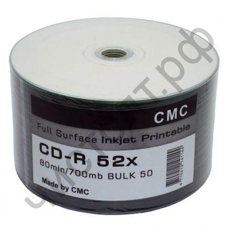 CDR 80 52x Full inkjet print(CMC) SP-100 (для печати струйн.)