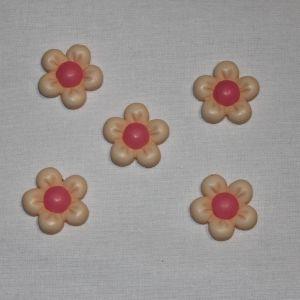 """Кабошон """"Цветок"""", пластик, 22 мм, цвет - желтый (1уп = 50шт), Арт. КБП0346-1"""