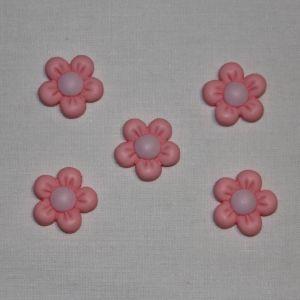 """Кабошон """"Цветок"""", пластик, 22 мм, цвет - розовый (1уп = 50шт), Арт. КБП0346-3"""