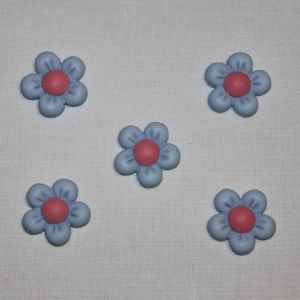 "Кабошон ""Цветок"", пластик, 22 мм, цвет - голубой (1уп = 50шт), Арт. КБП0346-6"