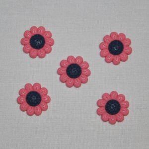 "Кабошон ""Цветок"", пластик, 22 мм, цвет - ярко-розовый (1уп = 50шт), Арт. КБП0348-1"