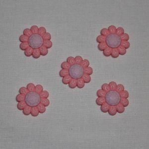 """Кабошон """"Цветок"""", пластик, 22 мм, цвет - розовый (1уп = 50шт), Арт. КБП0348-3"""