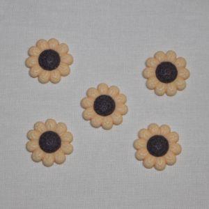"""Кабошон """"Цветок"""", пластик, 22 мм, цвет - желтый (1уп = 50шт), Арт. КБП0348-4"""