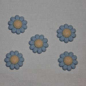"Кабошон ""Цветок"", пластик, 22 мм, цвет - голубой (1уп = 50шт), Арт. КБП0348-5"