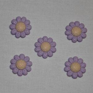 "Кабошон ""Цветок"", пластик, 22 мм, цвет - сиреневый (1уп = 50шт), Арт. КБП0348-6"