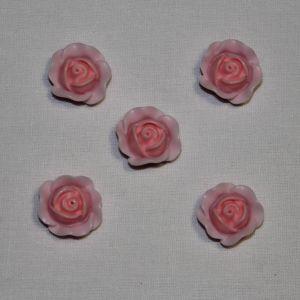 """Кабошон """"Розочка"""", пластик, 19 мм, цвет - розово-сиреневый (1уп = 50шт)"""