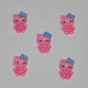 Кабошон, пластик, 20х15 мм, цвет - розовый (1уп = 50шт)