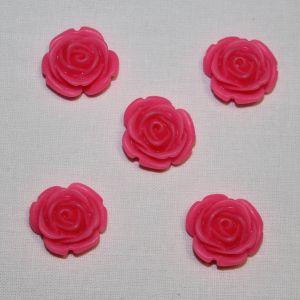 "Кабошон ""Розочка"", пластик, 20 мм, цвет - розовый (1уп = 50шт)"