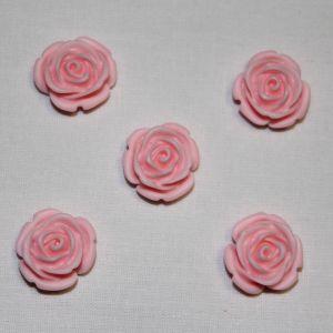 "Кабошон ""Розочка"", пластик, 20 мм, цвет - светло-розовый (1уп = 50шт)"