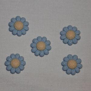 "`Кабошон ""Цветок"", пластик, 22 мм, цвет - голубой, Арт. Р-КБП0348-5"