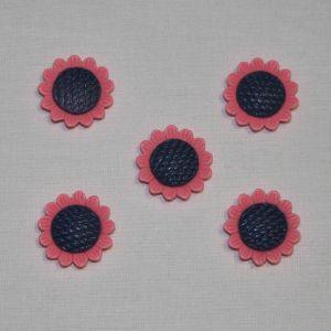 "`Кабошон ""Цветок"", пластик, 20 мм, цвет - ярко-розовый"