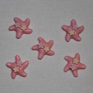 """`Кабошон """"Морская звезда"""", пластик, 20 мм, цвет - розовый"""