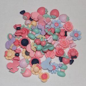 """`Кабошон """"МИКС"""", пластик, 19-25 мм, цвет - ассорти (1уп = 10шт)"""