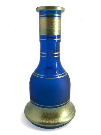 Колба для кальяна Ager средняя синяя с золотом