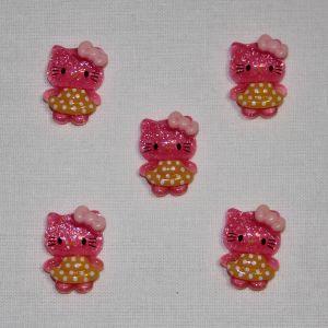 Кабошон, пластик, 20х15 мм, цвет - ярко-розовый (1уп = 50шт)