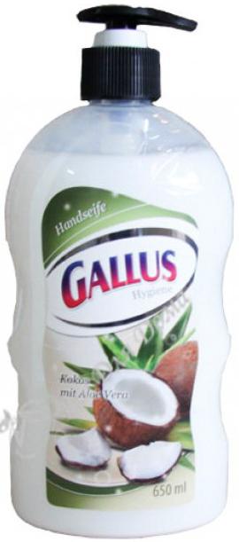 Gallus Жидкое мыло с дозатором Кокос 650 мл