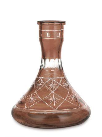 Колба для кальяна Ager средняя пирамида нарезная коричневая