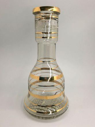 Колба для кальяна Khalil Mamoon колокол с золотом большая