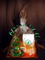 Елочка Новогодний подарочный набор с чаем и конфетами