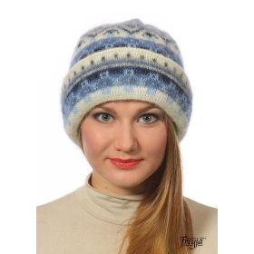 Шапка женская вязаная из Исландской шерсти 28268-22