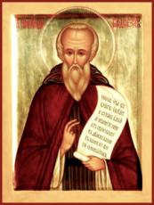 Никандр Городноезерский (рукописная икона)