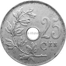 Бельгия 25 сентим 1922 г.