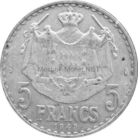 Монако 5 франков 1945 г.